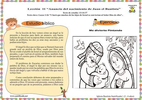 imagenes anuncio del nacimiento de jesus lecci 243 n 11 anuncio del nacimiento de juan el bautista