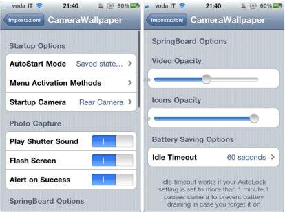 camera wallpaper cydia repo camerawallpaper disponibile in cydia store iphone italia