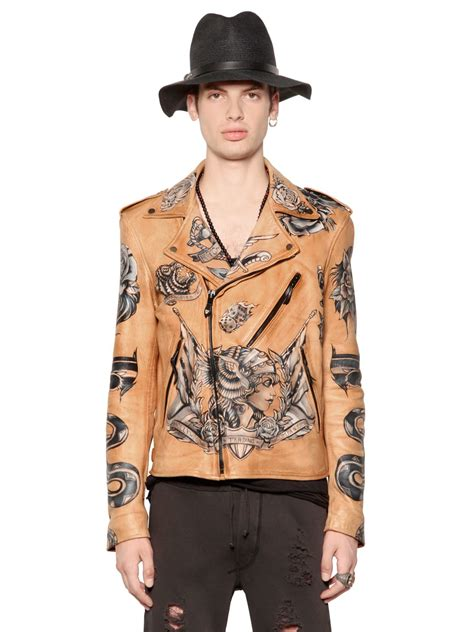 tattoo jacket lyst htc trading company painted