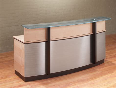 stainless steel shop desk modern curved reception desks executive reception desk