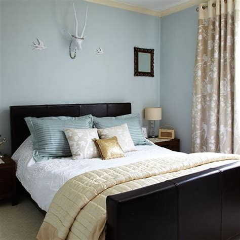 Decorating Ideas Duck Egg Blue Pin Brown Striped Walls On