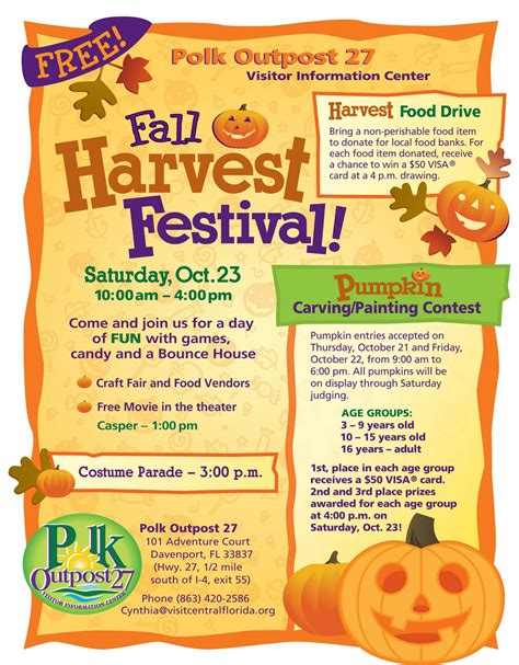 Things To Do In Polk County Polk Outpost 27 Fall Harvest Festival Southern Homes Blog Harvest Festival Flyer Free Template