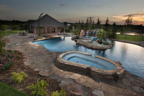 Backyard Pools Guthrie Ok Caviness Oklahoma Pool Builders