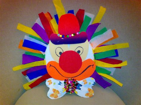 Paper Plate Clown Craft - crafts actvities and worksheets for preschool toddler and