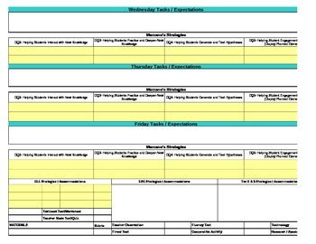 4th Grade Lesson Plan Template by Common Marzano Interactive Lesson Plan Template