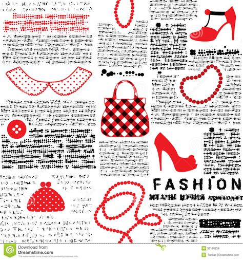 newspaper pattern fashionable background with imitation of newspaper stock