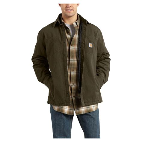 Carhartt Quilt Lined Jacket by Carhartt Chatfield Quilt Lined Work Shirt Jacket