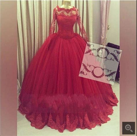 gold lace appliques long sleeves white tulle ball gowns wedding dress charming dark red ball gown lace appliques prom dress long
