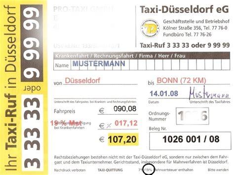 Muster Rechnung Taxi Das Bundesweite Taxiforum Thema Anzeigen Quittungen
