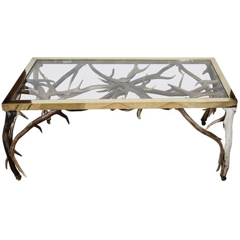 Antler Table by Antler Coffee Table At 1stdibs