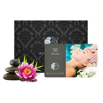 Way Spa Gift Card Canada - wayspa com 2 x 50 gift cards with gift packaging