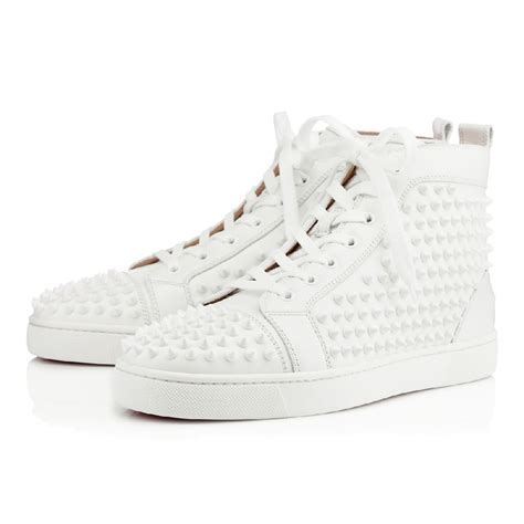 Christian Louboutin White Sneakers by Christian Louboutin Louis Spikes S Sneakers White White 11010833047