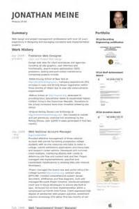 Freelance Project Manager Sle Resume by Freelance Web Designer Resume Sles Visualcv Resume Sles Database