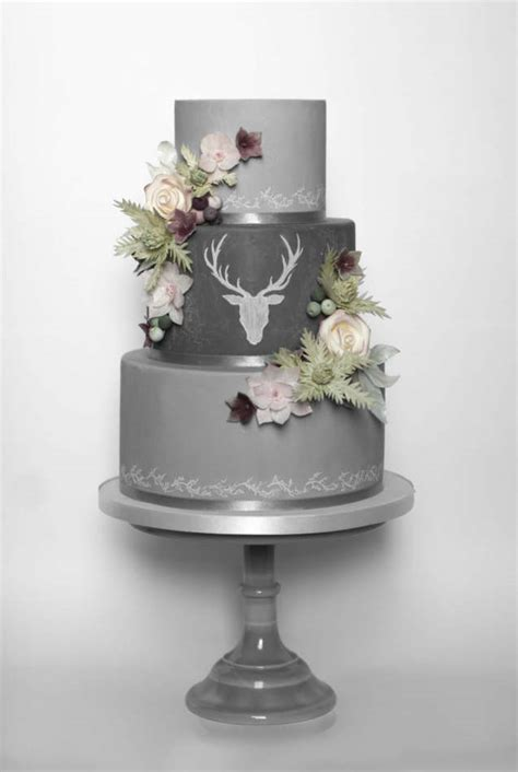 Where Can I Buy Christmas Cake Decorations Stag Chalk Board Wedding Cake Wedding Cake
