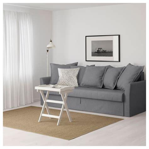 holmsund ikea holmsund three seat sofa bed nordvalla medium grey ikea