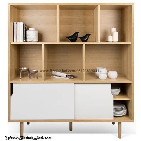 Rak Display Warna Warni Untuk Ruang Tamu Panjang 60cm Murah Meriah lemari rak minimalis kayu jati berkah jati furniture
