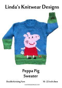 Jumper Motif Jangkar For Baby peppa pig sweater knitting pattern for baby enfants