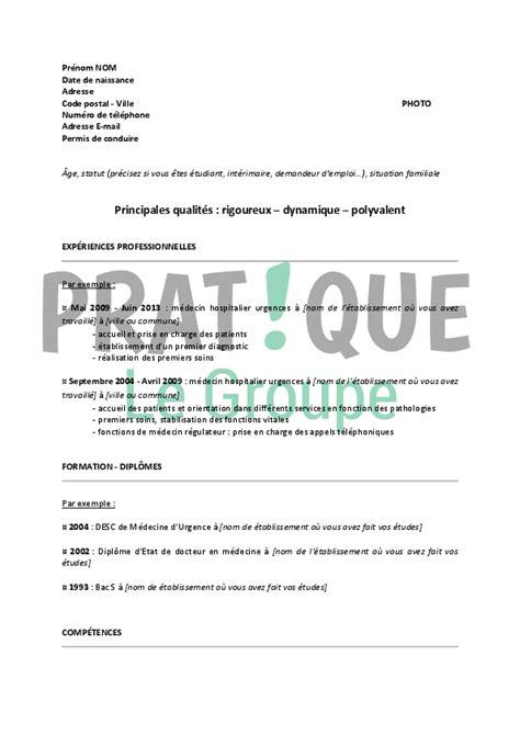 Modèle De Lettre Format Word resume format modele de curriculum vitae pour medecin