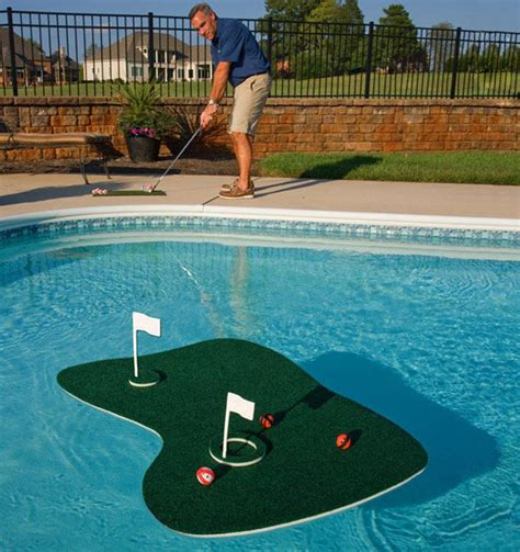 backyard golf games floating mini putt mats aqua golf backyard game