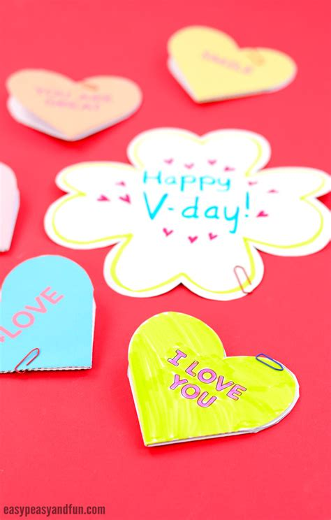 conversation card templates conversation hearts valentines day cards easy peasy and