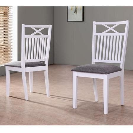 Fabric Dining Chairs Melbourne Melbourne Island Pair Of White Dining Chairs With Grey Fabric Seat Pad Furniture123