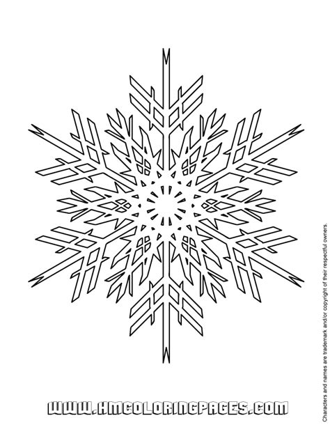 snowflake coloring pages printable az coloring pages