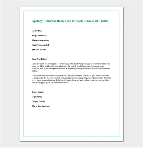 Apology Letter Because Of Illness excuses for missing work 20 believable reasons