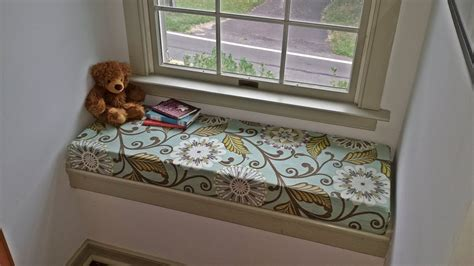 how to make a bench seat cushion cover no sew window seat cushions fairfield world craft projects