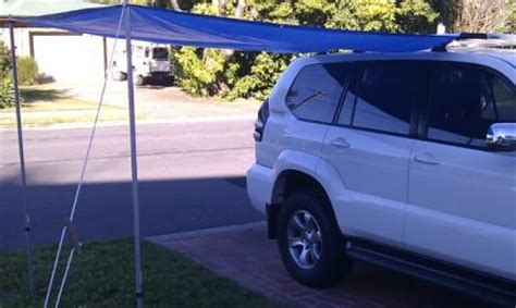 homemade 4wd awning easy set up sun and rain awning for your 4wd gear