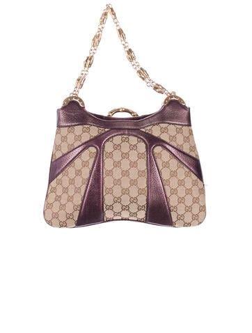 gucci monogram handle bag handbags guc  realreal