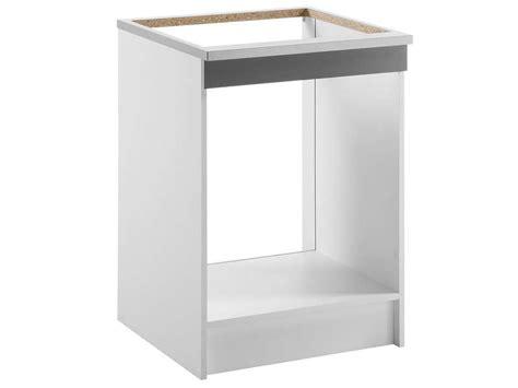 meuble cuisine four plaque meuble bas 60 cm four plaque spoon color coloris gris pas cher avis et prix en promo