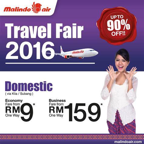 Promo Air travel fair 2016 malindo more promo