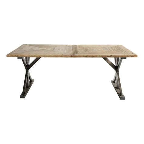recycled elm and metal dining table w 200cm li 232 ge