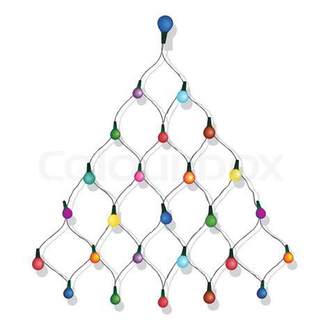 christmas tree garland lights string of christmas vector