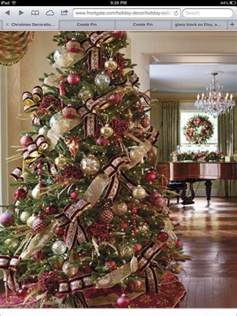 burgundy  gold christmas tree christmas pinterest beautiful christmas trees  holiday