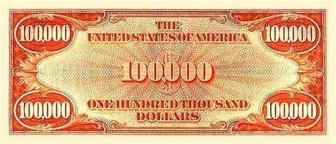 100 000 Dollar In Der Der 100 000 Dollar Schein Worksitenews