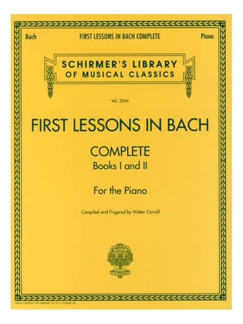 libro first lessons in bach sheet music first lessons in bach complete piano solo