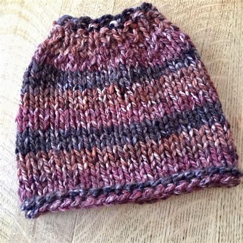 knit hat chunky knit bun hat pattern