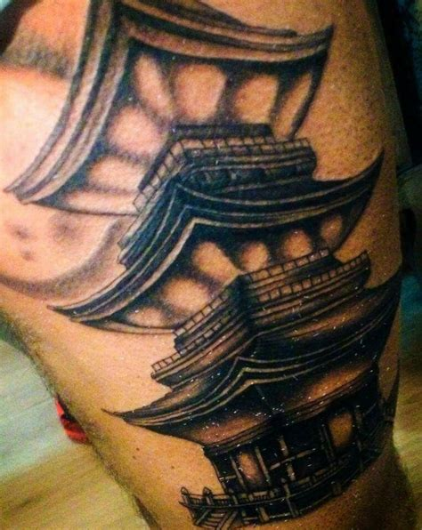 chinese temple tattoo designs japanese temple my work