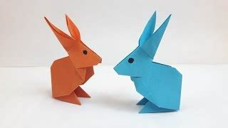 Origami Jumping Rabbit - 점프 토끼 종이접기 how to make paper origami jumping