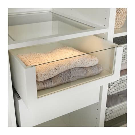ikea pax schublade komplement drawer with glass front white 50x58 cm ikea