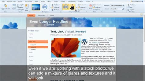 layout youtube wordpress how to design wordpress theme headers with flash and more