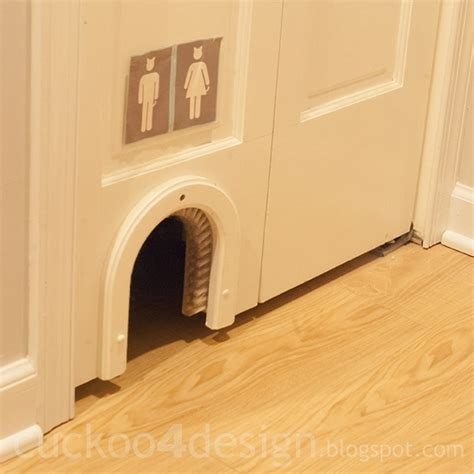 cat bathroom door bar area cuckoo4design