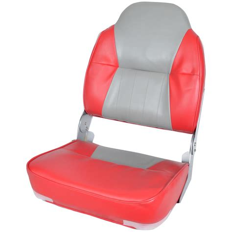 red fishing boat seats deluxe two tone high back fishing boat seat 640170 fold