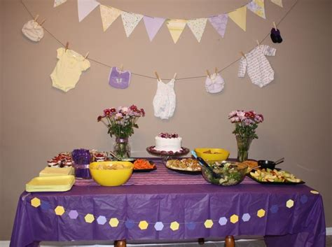 Purple And Yellow Baby Shower Ideas by Baby Shower Ideas Purple And Yellow