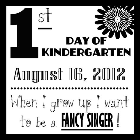 first day of school first day of school sign template