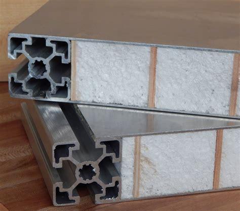 aluminum non warping patented honeycomb panels and door