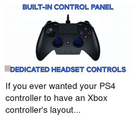 built in panel dedicated headset controls if you wanted your ps4 controller to