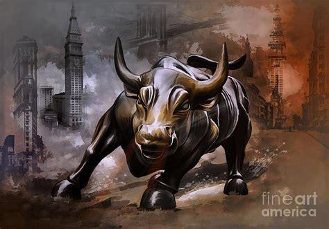 Bull Rage 2014 Raging Bull Painting By Andrzej Szczerski