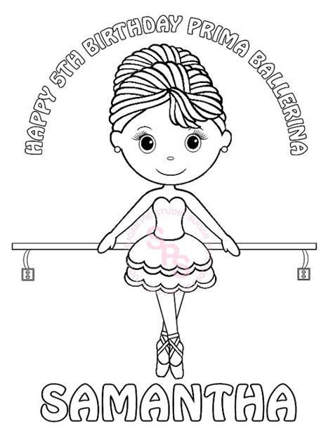ballerina coloring pages pdf personalized printable ballerina dance birthday party